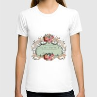 shabby chic T-shirts featuring Shabby Chic Carte Postale by Nika in Wonderland