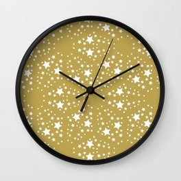 Gold and stars Wall Clock