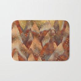 Abstract Copper Christmas Winter Mountain Dreamscape Bath Mat