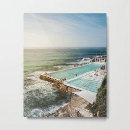 Bondi Icebergs Club   Bondi Beach Sydney Australia Ocean Coastal Travel Photography Metal Print