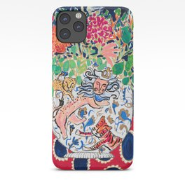 Lion, Cheetah and Tiger Still Life - Wildflowers in Wild Cat Vase After Matisse iPhone Case
