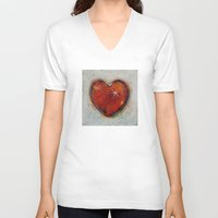 passion V-neck T-shirts featuring Passion by Michael Creese