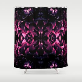 Black Dahlia II Shower Curtain