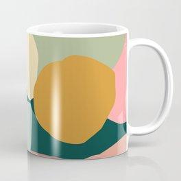 Mid-Century Modern Abstract In Mustard, Mint Green & Salmon Coffee Mug