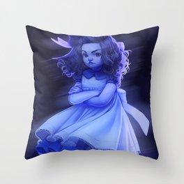 Ghost Girl (#Drawlloween2016 Series) Throw Pillow
