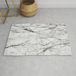 White gray marble texture Rug