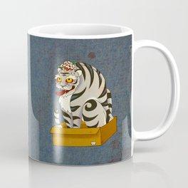 Minhwa: Big Happy Cat D Type Coffee Mug