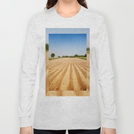 Ploughed agriculture field empty Long Sleeve T-shirt