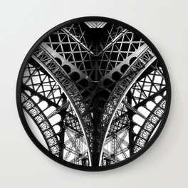 Eiffel Tower Detail Paris Wall Clock