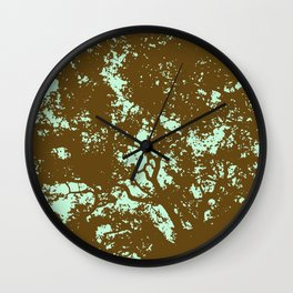 Mint and Brown Forest Wall Clock