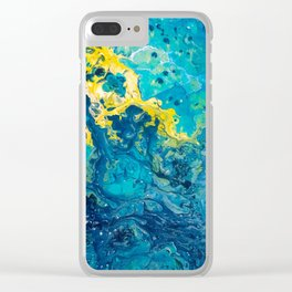 Waves from Space Clear iPhone Case