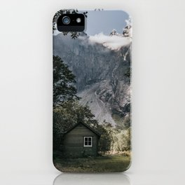 Mountain Cabin - Landscape and Nature Photography iPhone Case