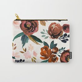 Valentina Vintage Rust Rose Carry-All Pouch