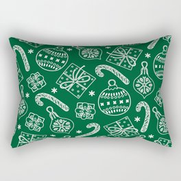 Christmas Doodle Pattern Rectangular Pillow