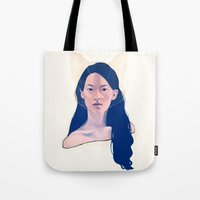 kitsune Tote Bags featuring Kitsune by days & hours
