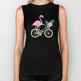 Tropical Flamingo Bike Biker Tank