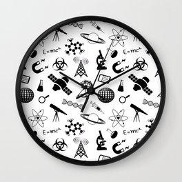 Symbols of Science Wall Clock