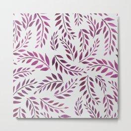 Palms & Fronds - Purple Metal Print