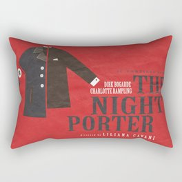 The Night Porter -  Movie Poster (Liliana Cavani, Charlotte Rampling, Dirk Bogarde) Rectangular Pillow