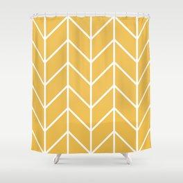 Herringbone Chevron (Mimosa) Shower Curtain