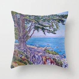 Monterey Bay Cypress Throw Pillow