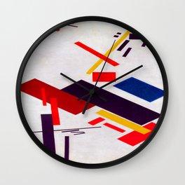 Kazimir Malevich House Under Construction Wall Clock