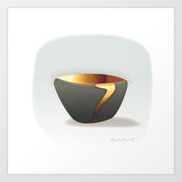 Kintsugi Gold Art Print