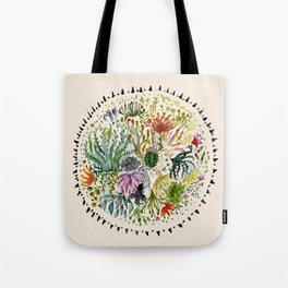 Succulents Mandala Tote Bag