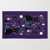 kittens Area & Throw Rugs featuring Halloween Kittens  by Carly Watts