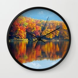 Autumn Colors at Lake Killarney Wall Clock