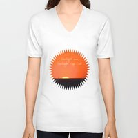 cape cod V-neck T-shirts featuring Goodnight Cape Cod by KarenHarveyCox