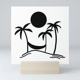 Hammock Hangout Mini Art Print