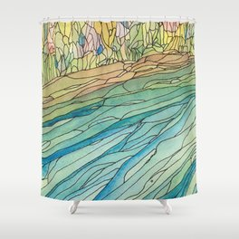 Eno River 23 (top portion) Shower Curtain