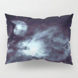 Orion Nebula Midnight Steel Blue Pillow Sham