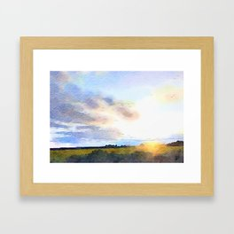 Dawn on the Road Framed Art Print