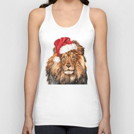 Christmas Lion Unisex Tank Top