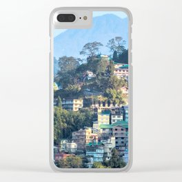 Pastel City : Gangtok Clear iPhone Case