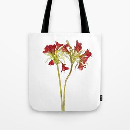 Parrot Lily Cartoon Tote Bag