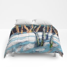 White Birch Grove / Dennis Weber / ShreddyStudio Comforters