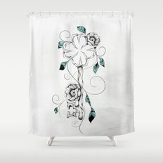 Poetic Key of Luck  Shower Curtain