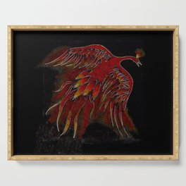 Creature of Fire (The Firebird) Serving Tray