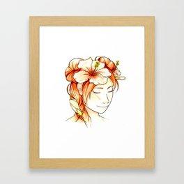 Tenten & Hibiscus Framed Art Print