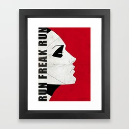 Run Freak Run - Red Framed Art Print