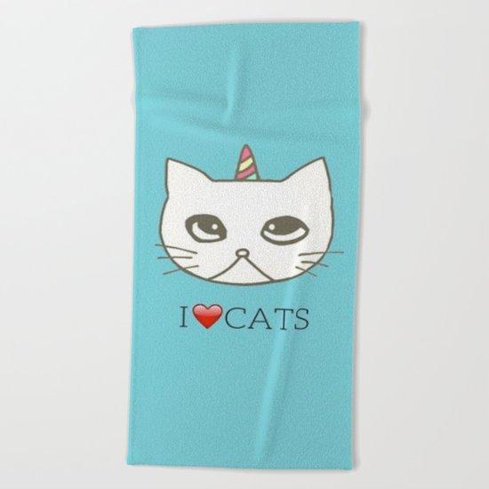 cat-102 Beach Towel