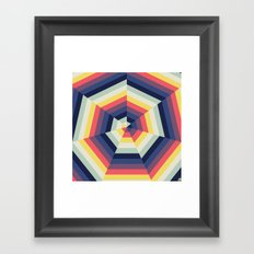 Heptagon Quilt 2 Framed Art Print