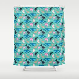 Over-whale-ming Shower Curtain
