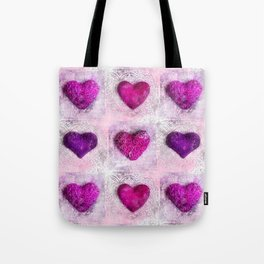 Pink Passion colorful heart pattern Tote Bag