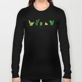 Friendly family of succulents Long Sleeve T-shirt