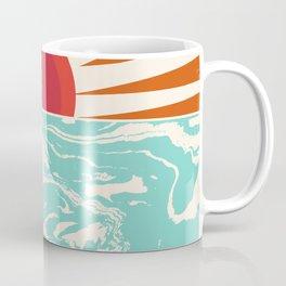 Keepin' It Real - retro 70s vibes throwback ocean sunset sunrise socal surfing beach life 1970's Coffee Mug