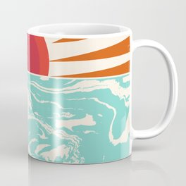 Keepin' It Real - retro 70s vibes throwback ocean sunset sunrise socal surfing beach life 1970's Coffee Mug